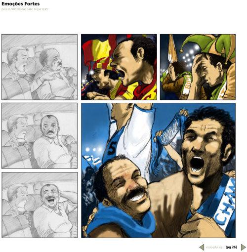 storyboard art of football