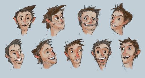 desenho de personagens esboços de rosto