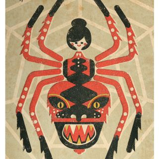 Vector Art Of Halloween Spider