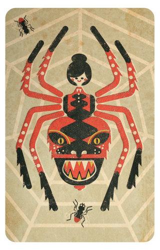 Vector Art Of Halloween Spider