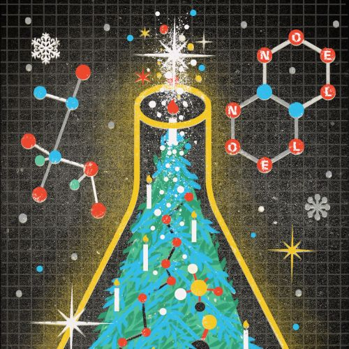 Chemical christmas tree vector art