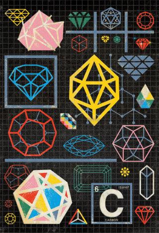 Carbon structures graphic designs