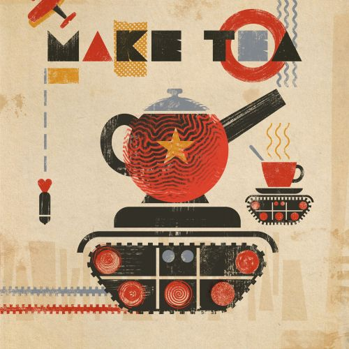 Make tea not war conceptual design