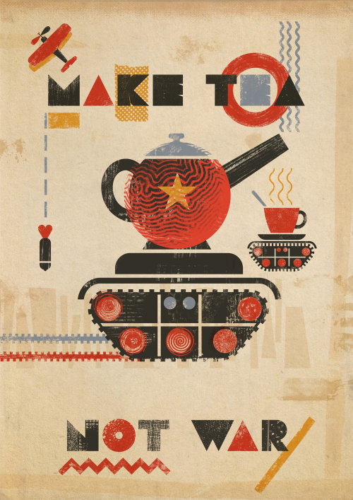 Make tea not war conceptual design