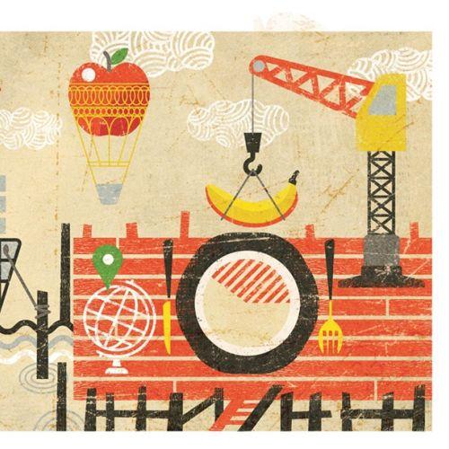Ian Murray Ilustrador conceitual retrô. Reino Unido