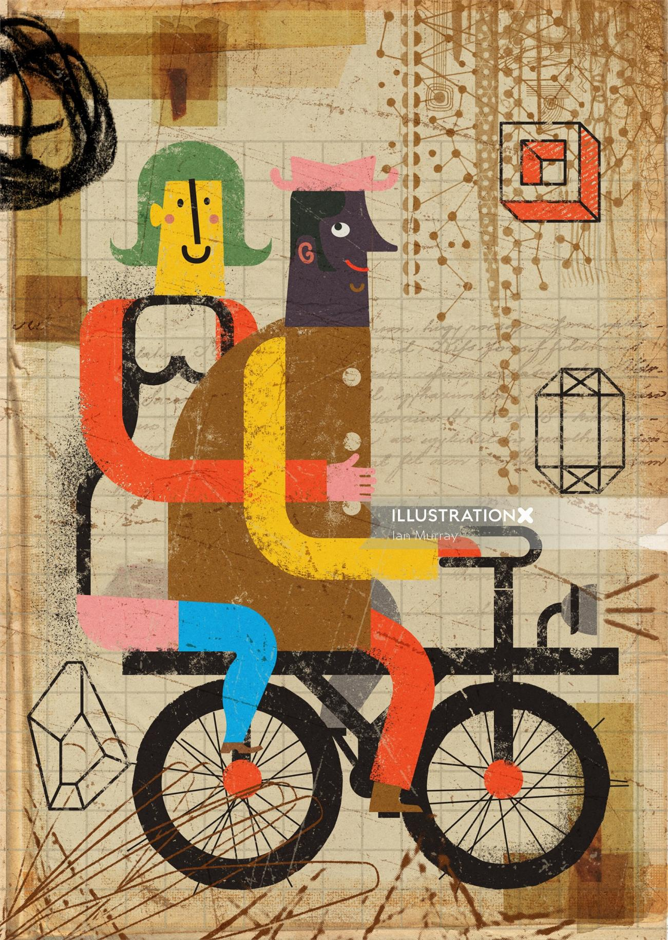 Conceptual design of Bicycle for two