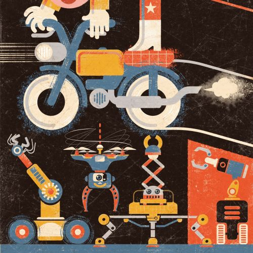 Jump Robots Conceptual Collage