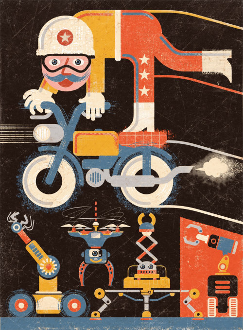 Jump Robots Conceptual Collage