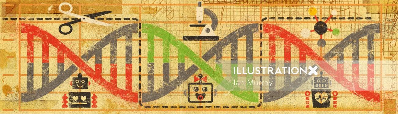 DNA Conceptual Graphic Design