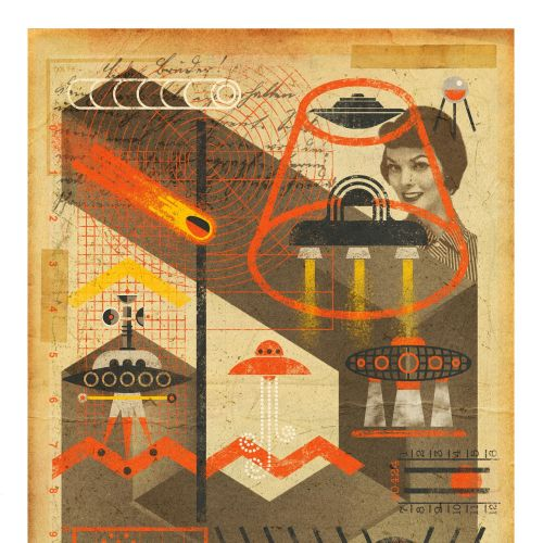 Ian Murray Retro conceptual illustrator. UK
