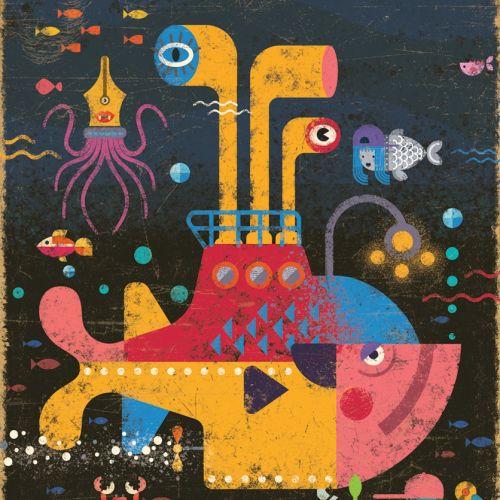Ian Murray Ilustrador conceptual retro. Reino Unido