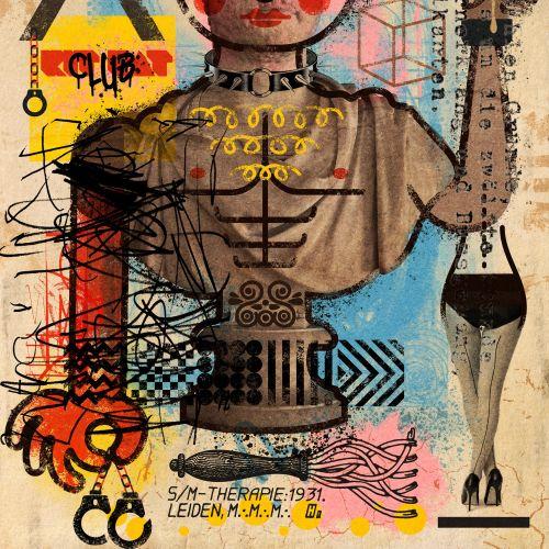 Ian Murray Illustrateur conceptuel rétro. Royaume-Uni