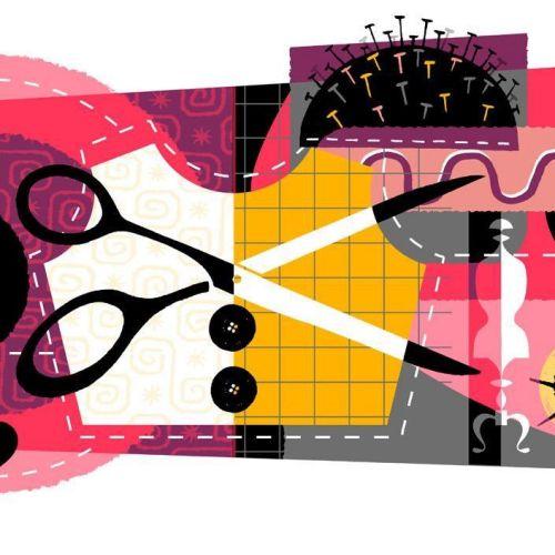 Graphic illustration of scissor