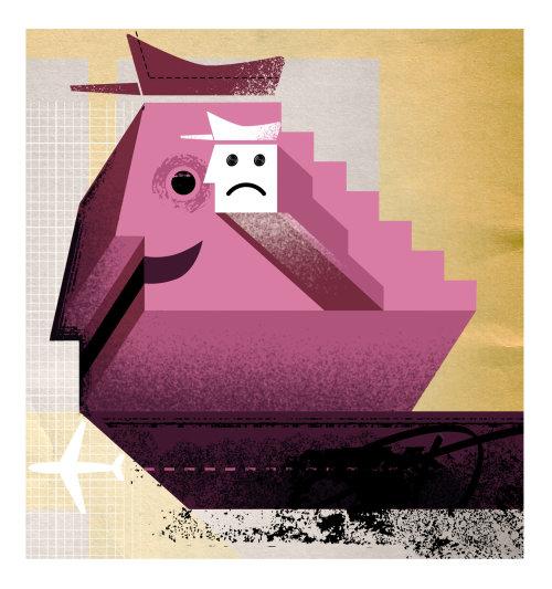 Illustration of Depressed man
