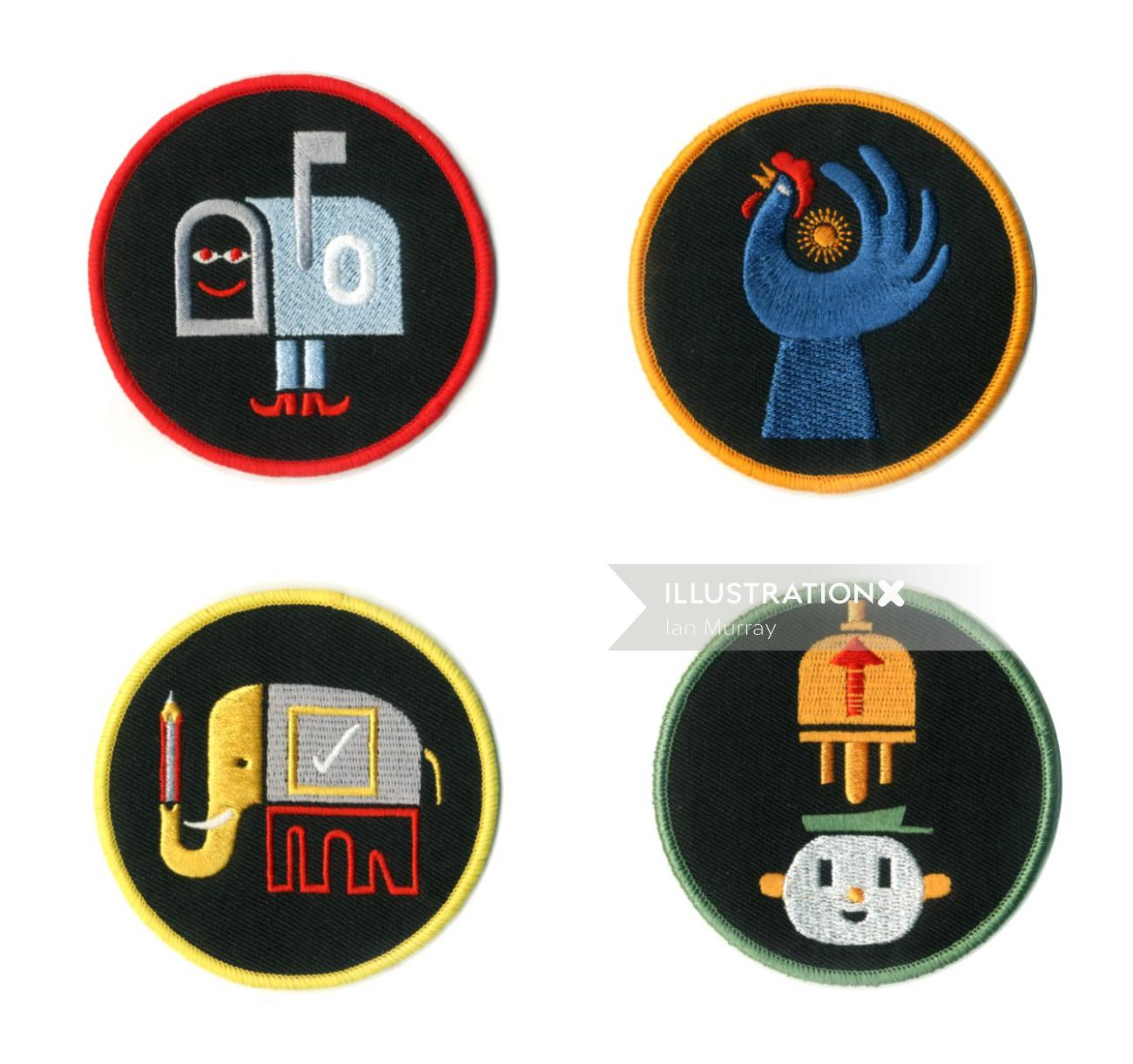 GTD patches Cloth work