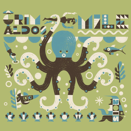 Octopus Retro Design By Ian Murray Illustrator