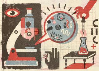 Scientific illustration for kids