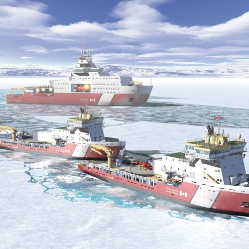 Realistic Illustration of Ships in ocean
