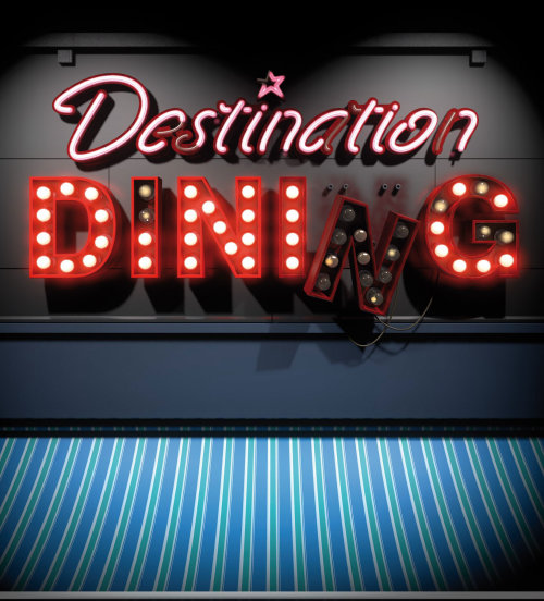 Lettering illustration of Distinction Dininc