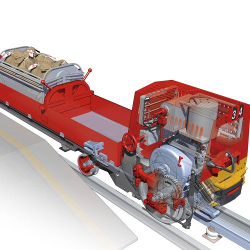 Cgi illustration of Goods Train