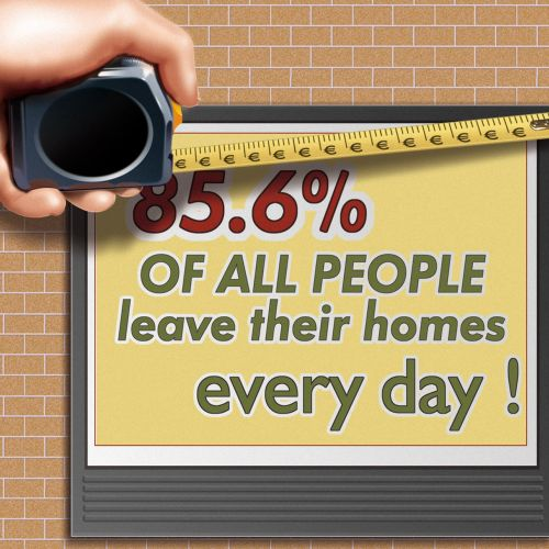 Contemporary art of 85.6% people leave home daily