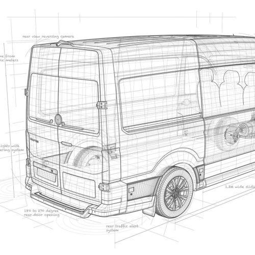 Line architecture of van
