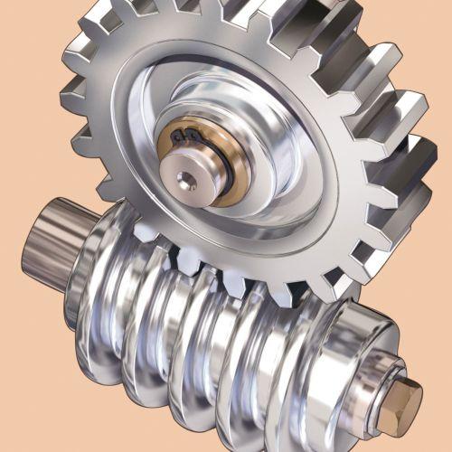 Technical illustration of gear hub