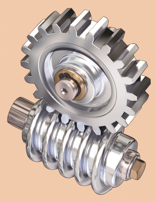 Technical illustration of gear hub