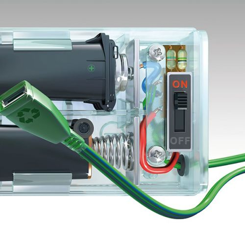 Technical illustration of power bank