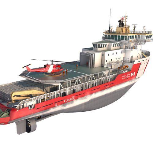Realistic illustration of ship