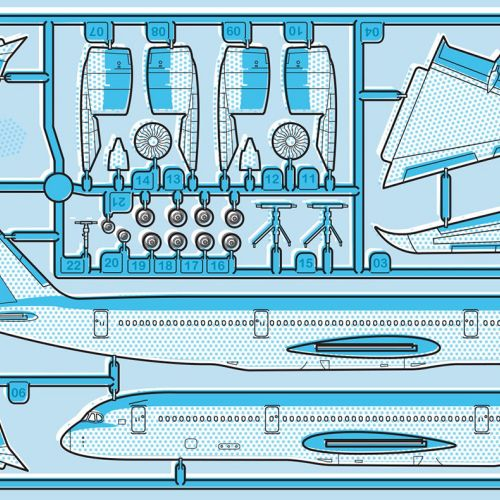 Airplane Technical illustration