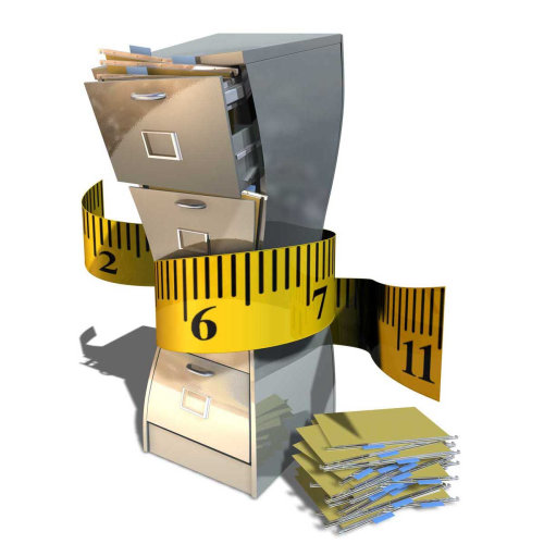 Filing slimming tape measure