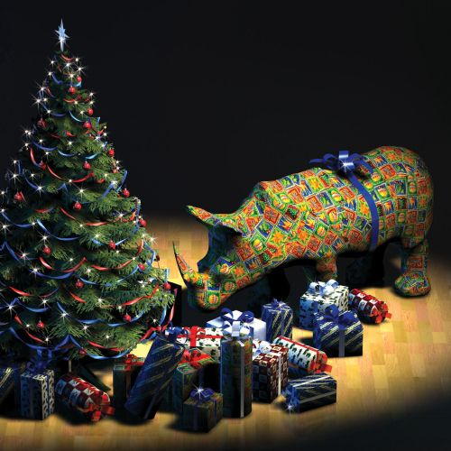 wrapped reindeer 3d art