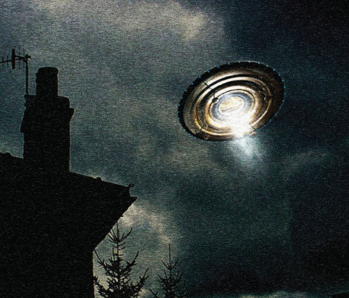 UFO in night Graphic