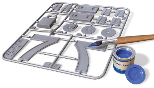 Gráfico 3d do Windows 7 Airfix kit