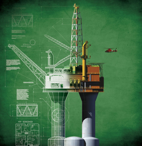 Rig illustration by Ian Naylor