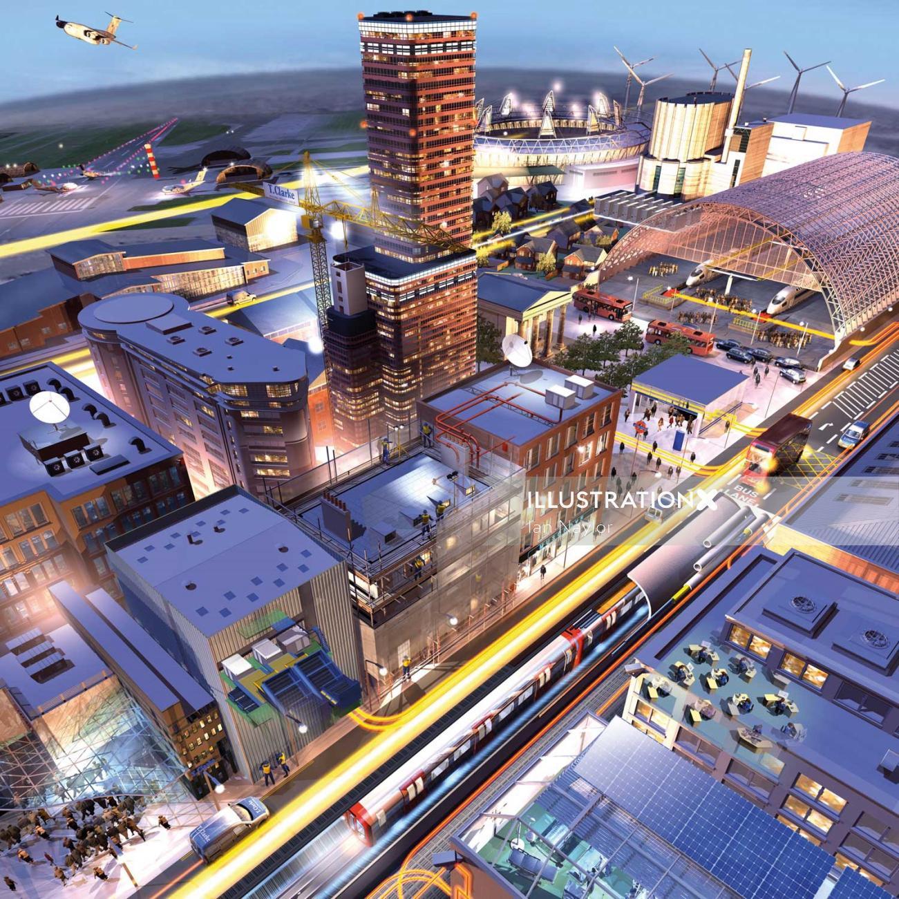 Cityscape illustration by Ian Nayor