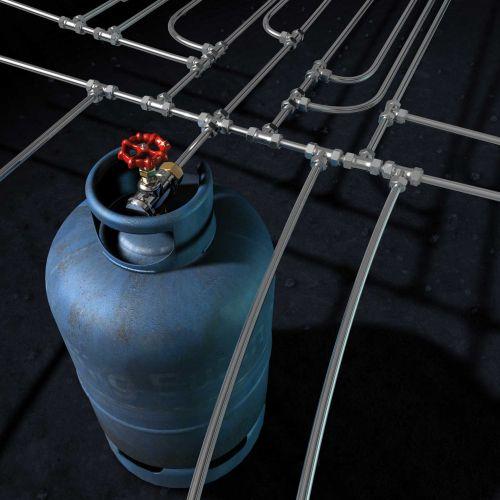 An illustration of gas cylinder