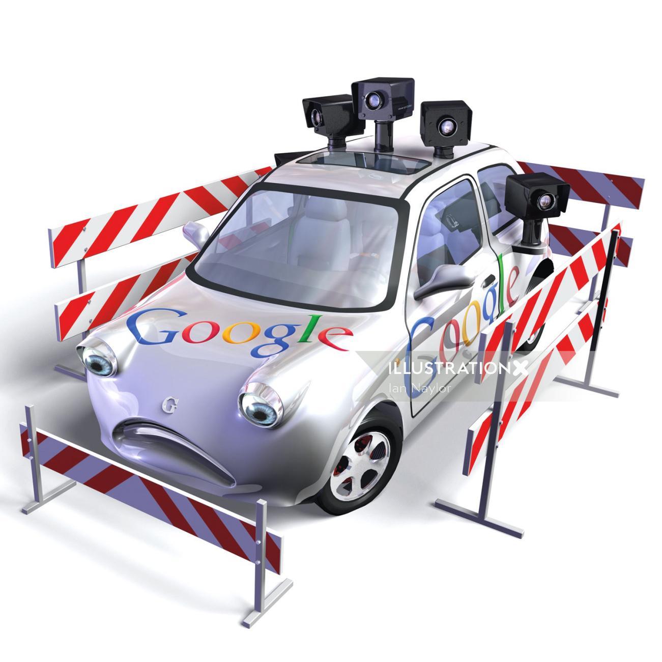 Google Card 3d design