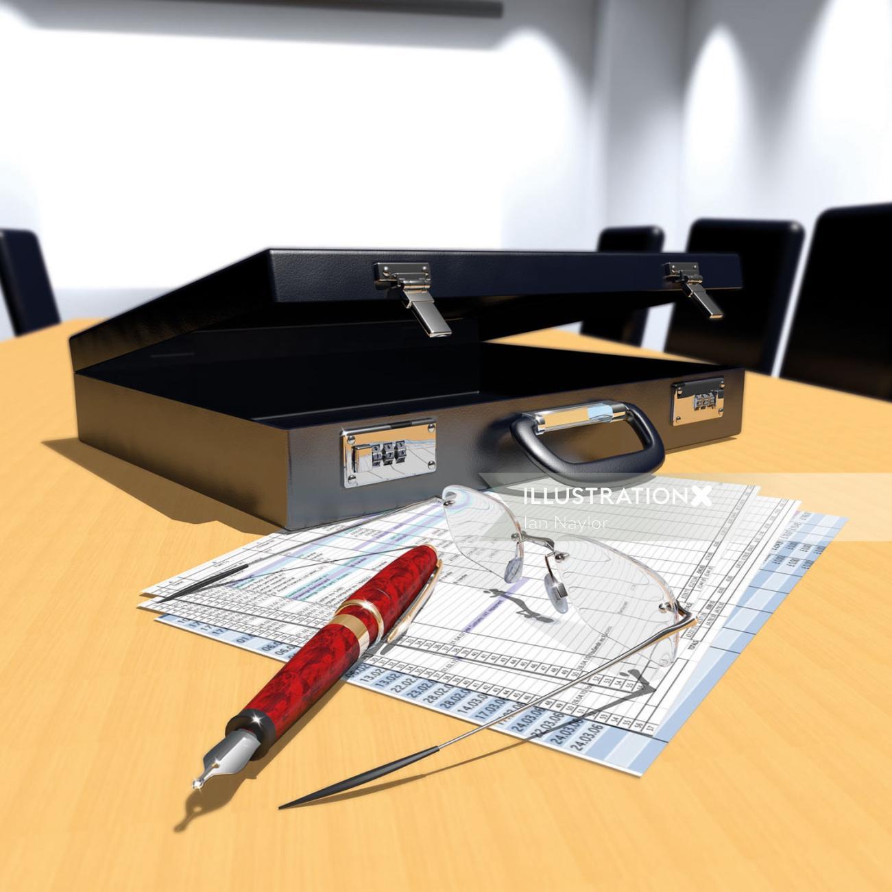 3d Briefcase design