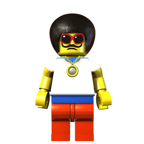 Lego Man with Mustache