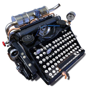 Typewriter illustration by Ian Naylor