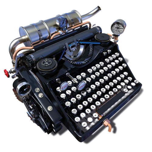 Typewriter illustration by Ian Naylor