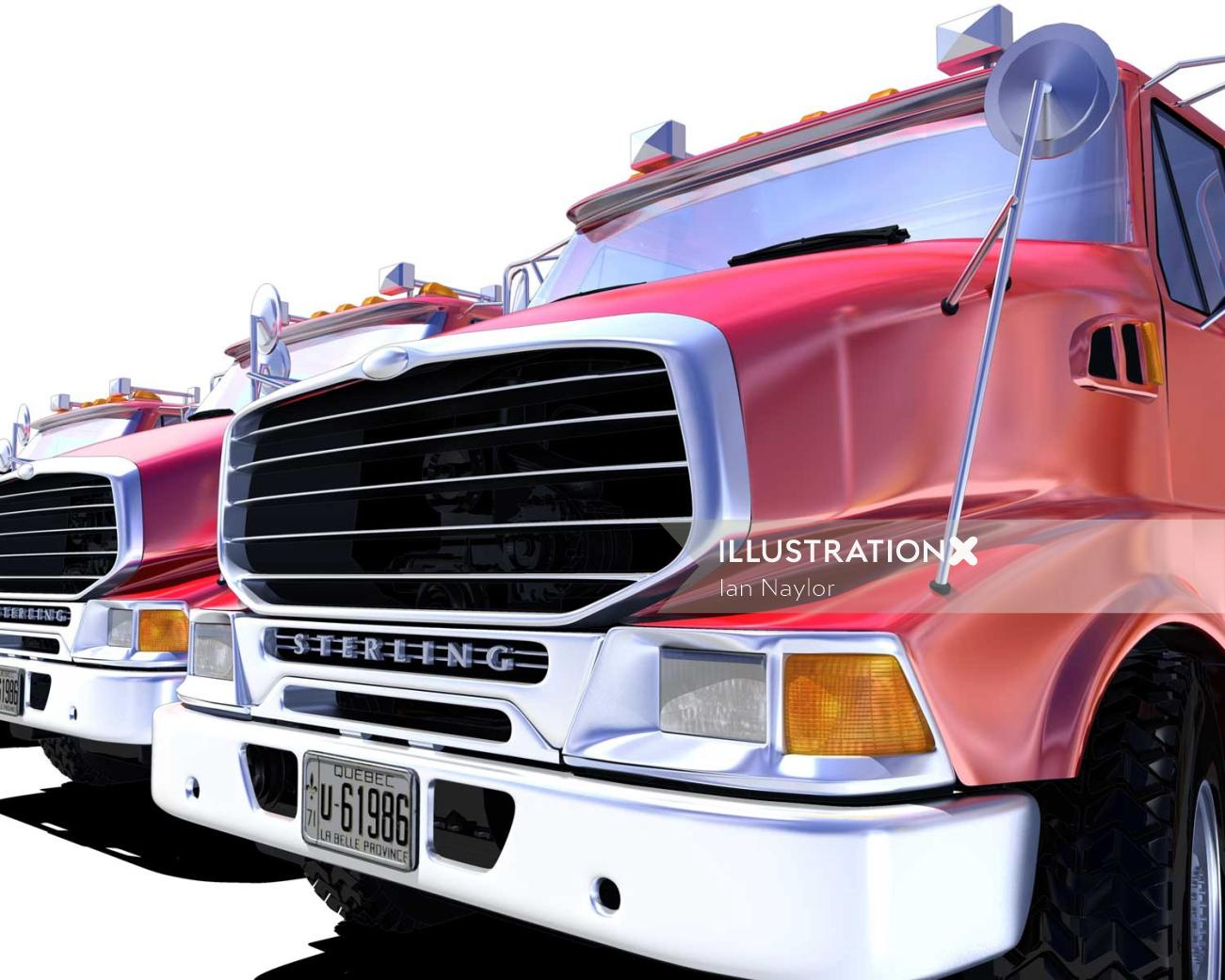 Truck illustration by Ian Naylor
