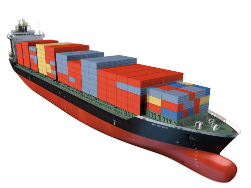 An illustration of container vessel