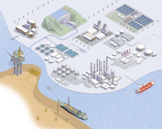 An illustration of Industrial layout