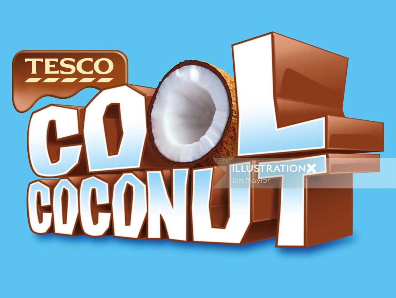 Cool Coconut Text Design
