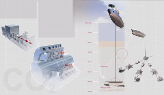 Detailed drawing of ship air compressor