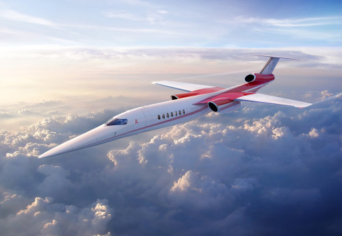 Computer Generated Supersonic aircraft