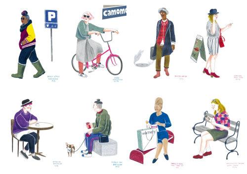 Ilustração de pessoas em Nova York